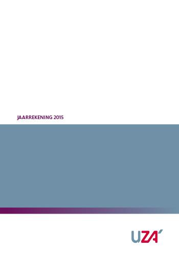UZA jaarrekening 2015